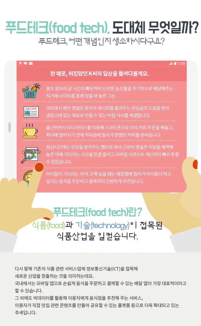푸드테크(food tech), 도대체 무엇일까?
