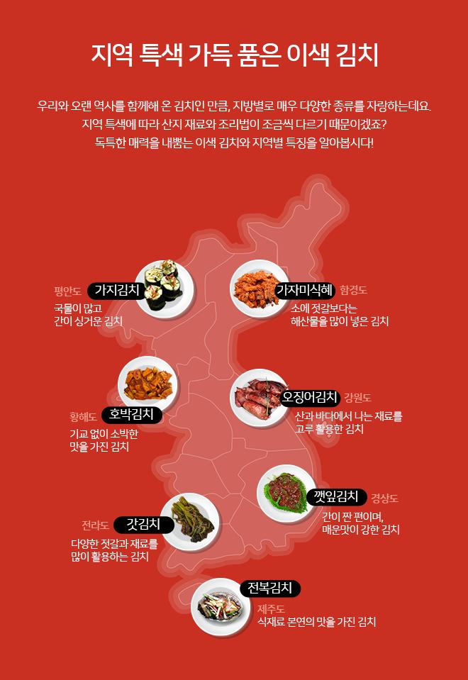 지역 특색 가득 품은 이색 김치